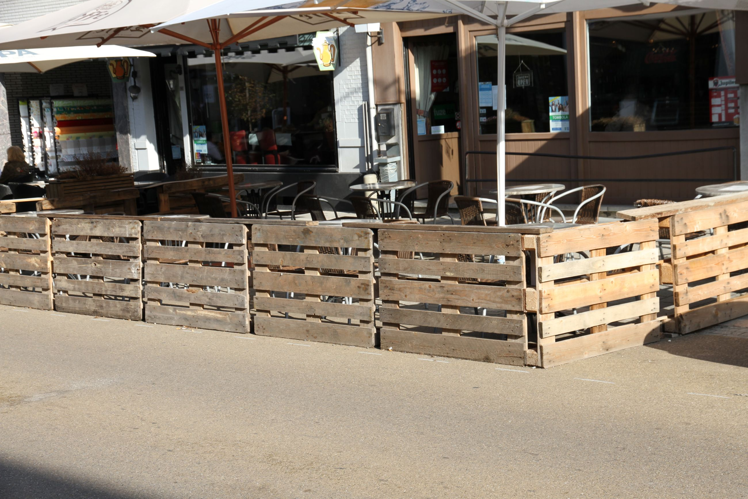 Een pallettendorp in de Bergstraat