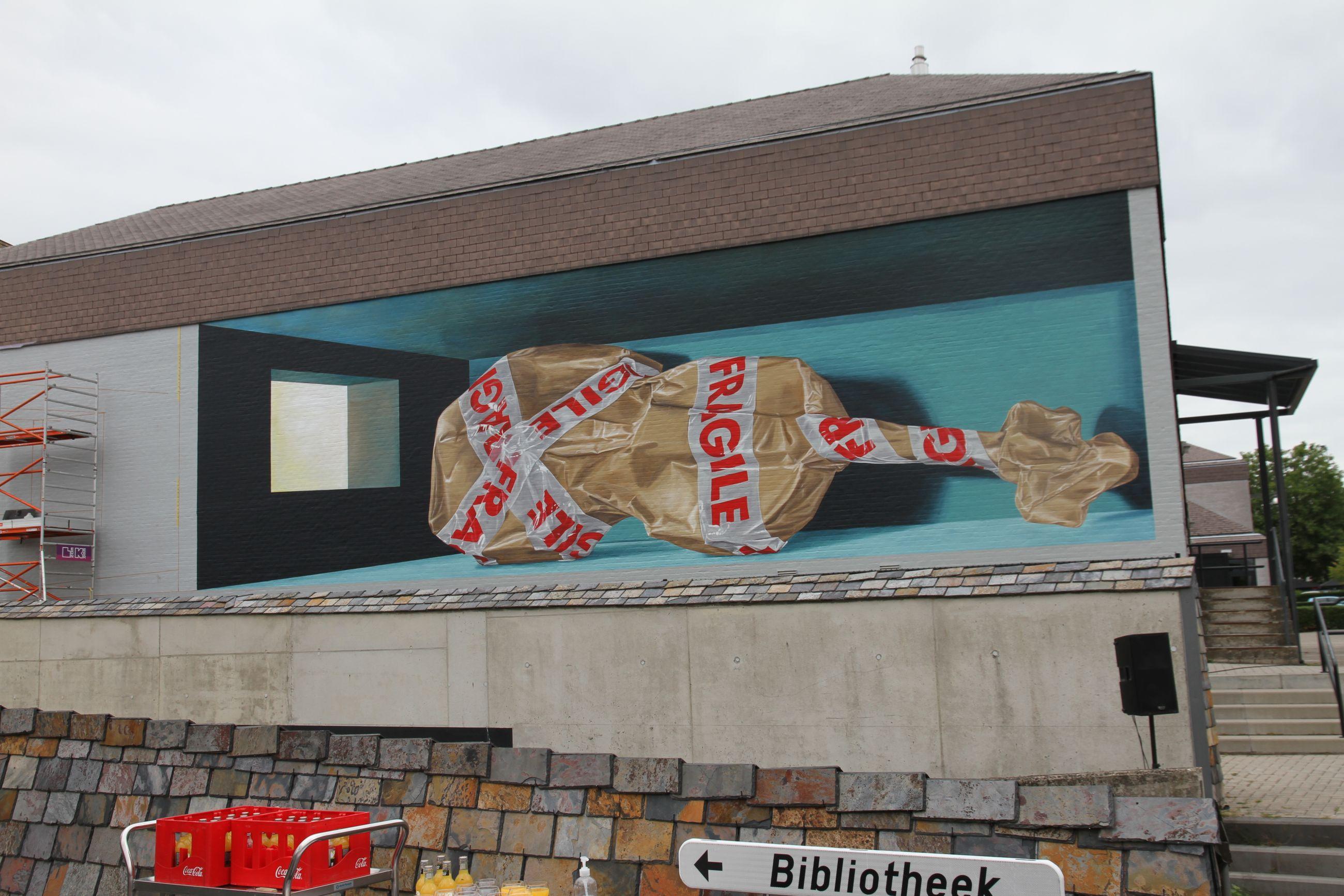Kunst op de muur van Zwaneberg