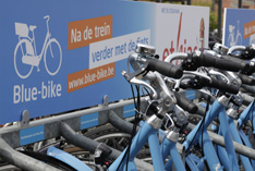 Blue-bike in Heist-op-den-Berg