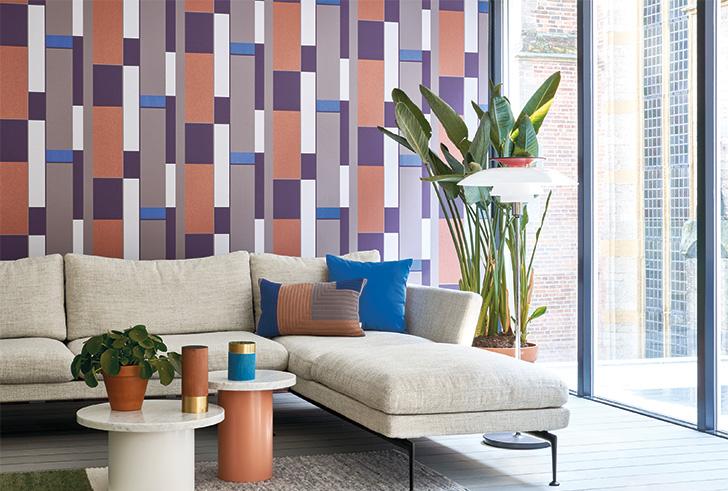 Kleur & geometrie aan de muur