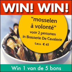 """Win """"mosselen à volonté"""" voor 2 personen in Brasserie De Cavalerie"""